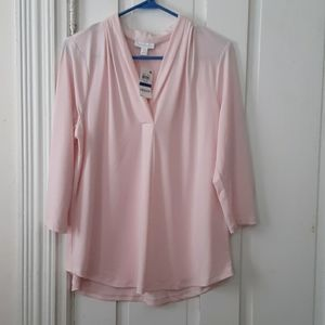 Charter club vneck top new
